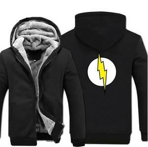 Image 2 - ทฤษฎี Big Bang Sheldon แฟลช Hoodies ชาย 2019 ฤดูหนาวเสื้อคุณภาพสูง Thicken Mens Coat Plus ขนาดเสื้อ