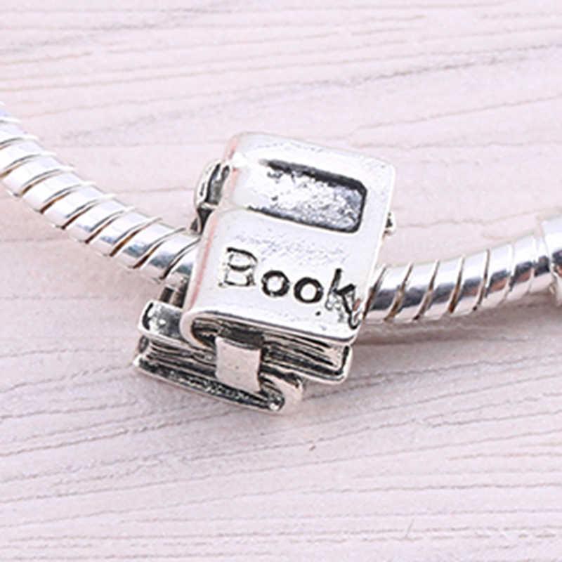 DINGLLY, 2 unids/lote, cuentas de libro Vintage, pulseras y brazaletes de marcas DIY, cuentas originales, accesorios para regalo