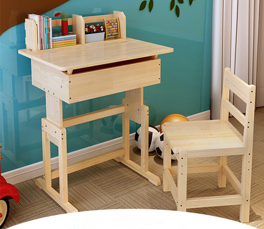 Non Free Shipping Factory Direct Children Kids Wooden Study Table And Chair Set Desk Wood Furniture For Child In Tables From On