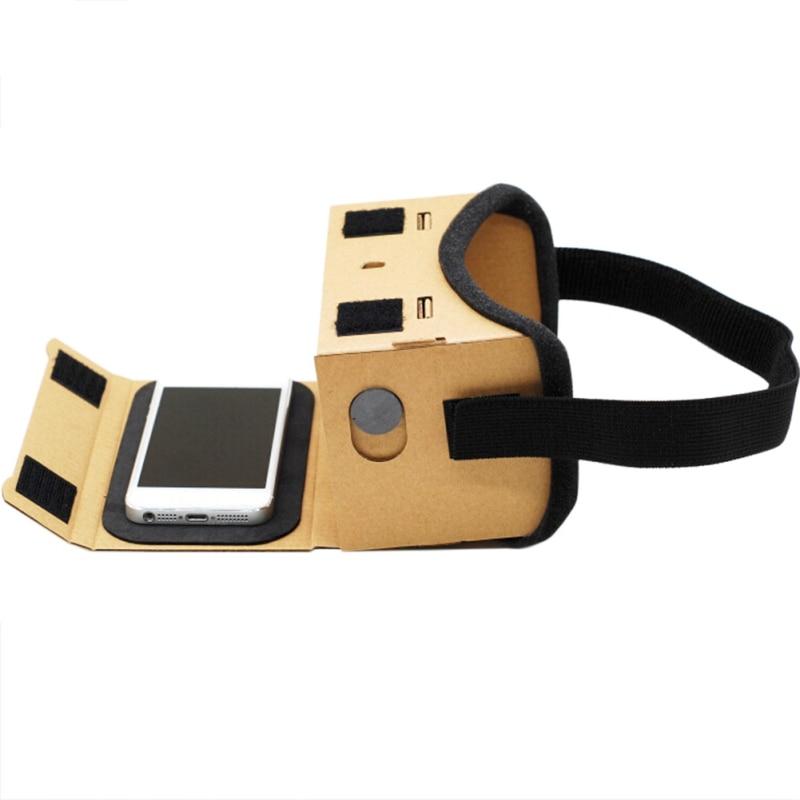 Очки виртуальной реальности Google картонные очки 3D очки фильмы для Android ios для менее 6 дюймов мобильного телефона ...