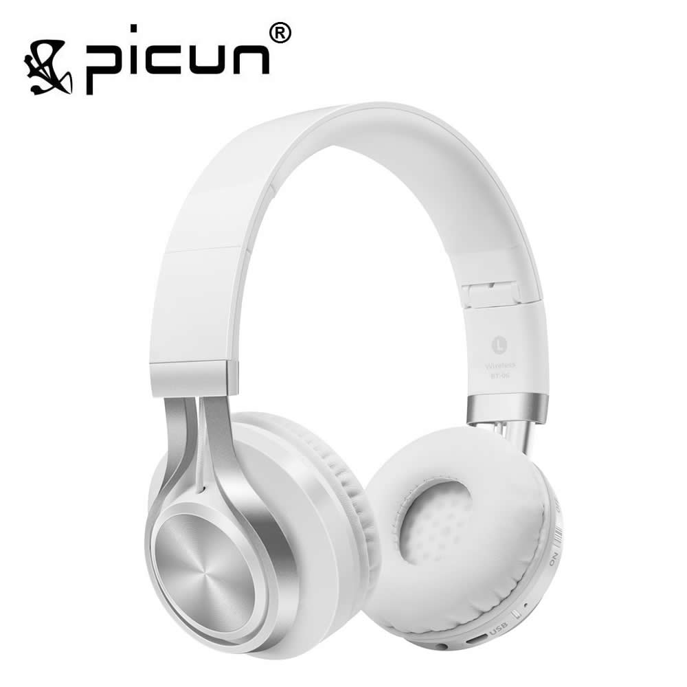 Picun BT-06 Over-ear Wireless Bluetooth 4.0 Headphones Foldable Stereo with Build-in Microphone, Wired Music Headsets MP3 бесплатная доставка hi3 5042 5 5 в 15 в диапазоне 80ma двойной ic