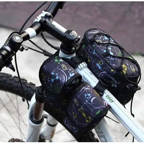 2015 новое поступление обновление версии четыре в одном велосипед мешок велосипедов сумка Roswheel велоспорт велосипед передняя корзина труба сумка 12901