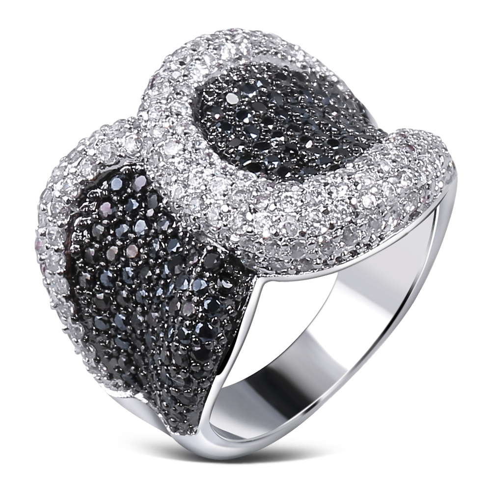 Nice Wedding Rings Cubic Zirconia Black And White Cz Lastest Designs New Fashion Jewelry Free Shipping In Engagement From Accessories