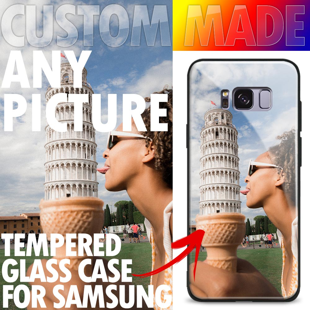 Customized any picture Custom made DIY Tempered <font><b>Glass</b></font> Silicone Phone <font><b>Case</b></font> <font><b>Cover</b></font> For <font><b>Samsung</b></font> <font><b>Galaxy</b></font> <font><b>S8</b></font> S9 S10 e Plus Note 8 9 10 image