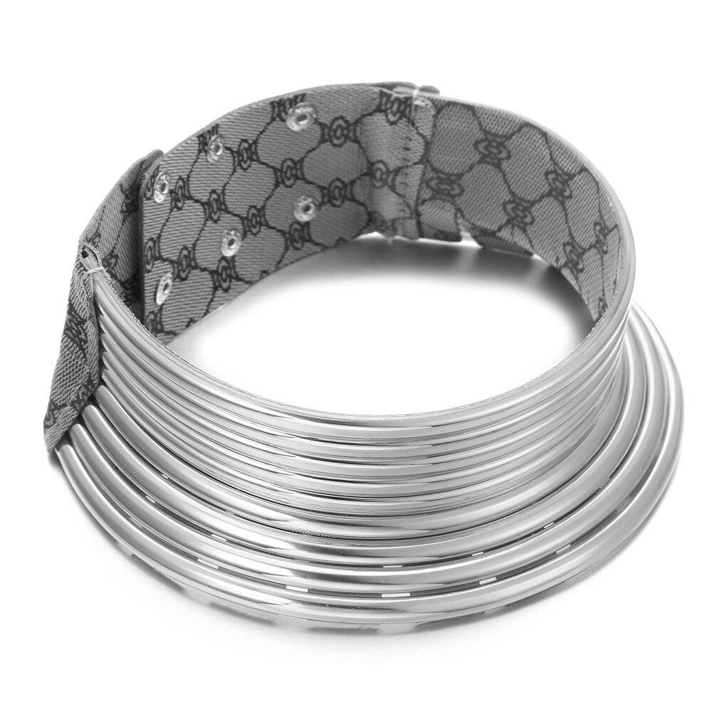 colar de couro colar jóias africanas ajustável