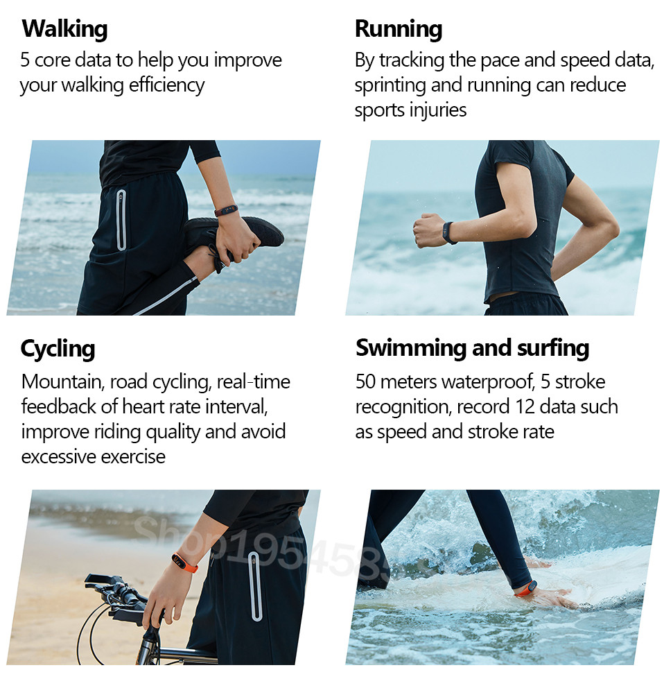 Xiaomi Mi Band 4 Smart Watch Standard Version Heart Rate Activity Fitness Tracker Smart Band Bracelet Colorful Display 2019 New (20)