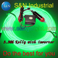 Kelly 5M 12VDC Neon Light EL Wire Rope Tube With Controller For Car Decorative Light Atmosphere