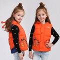 Novas Crianças Para Baixo do Colete de Algodão Colete Outerwear Outono e Inverno Do Bebê Das Meninas dos Meninos Colete Weskit V-0484