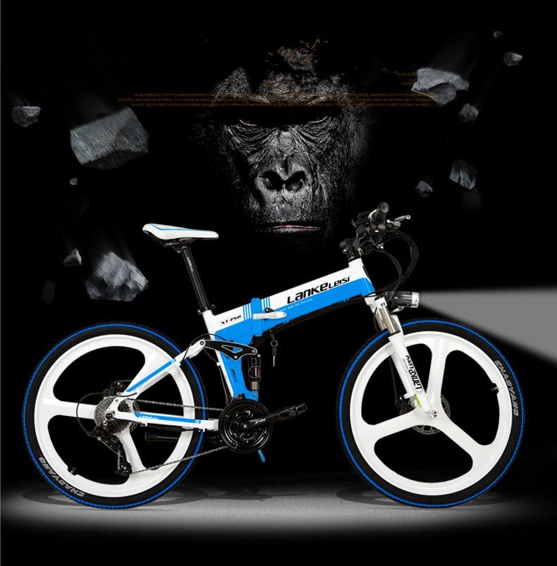 "HTB1ecBtegn.PuJjSZFkq6A lpXaK - XT750D 27 Velocity 500W Tremendous Energy Excessive High quality 26"" Foldable Electrical Bicycle, 36V/48V Hidden Lithium Battery Mountain Bike MTB"