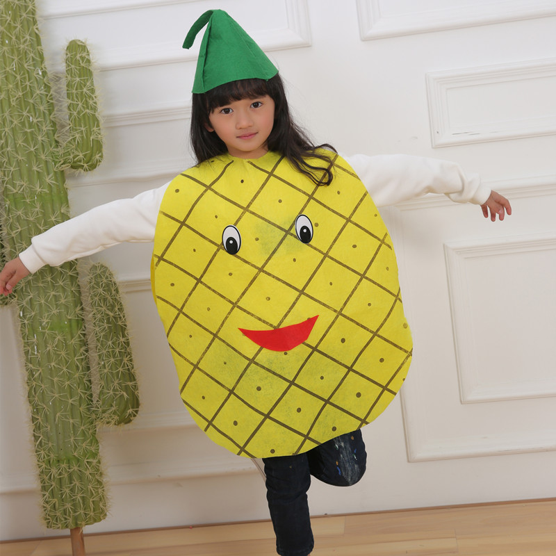 Halloween Kids Boys Girls  Fruit Costumes Cosplay Pineapple carrot blueberry watermelon Strawberry apple Children's Day Costume