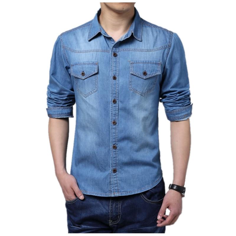 font b Men b font Shirt 2017 New Fashion Casual font b jeans b font
