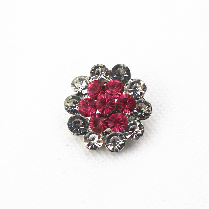 Hot selling 18mm metal snap button rhinestones flower for snap button bracelet jewelry Bracelet&Bangle