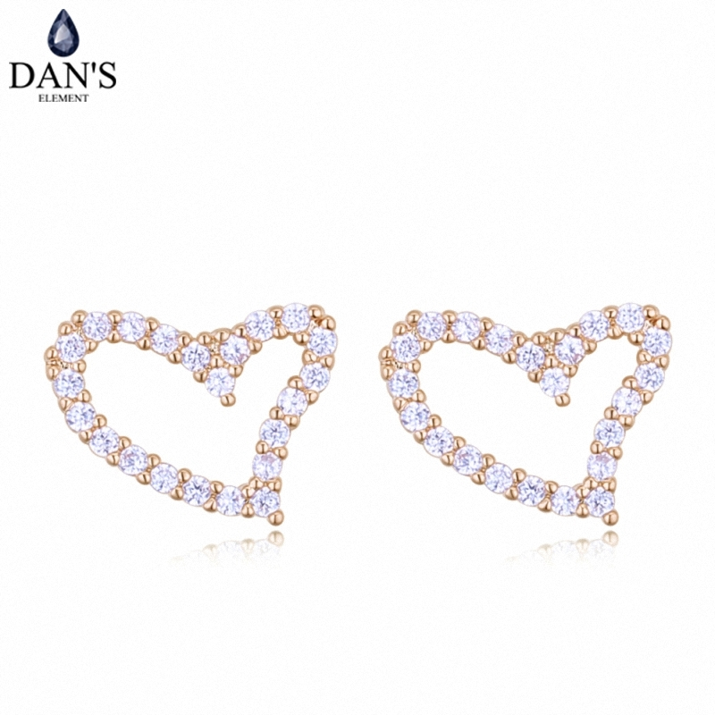 DANS 3 Colors Real Austrian crystals Stud earrings for women Earrings s New Sale Hot Round 128281