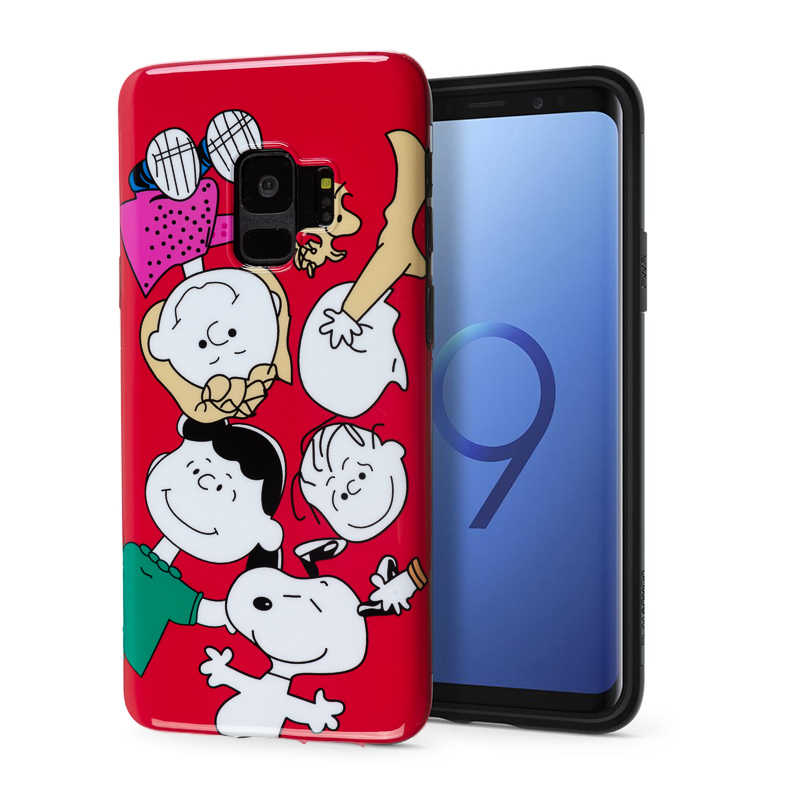 Marca de luxo Brilhante Capa de Silicone Macio para Samsung Galaxy S9 Plus S8 Nota 8 Tampa Bonito Dos Desenhos Animados Cão Amor Vermelho menina Amigo coque