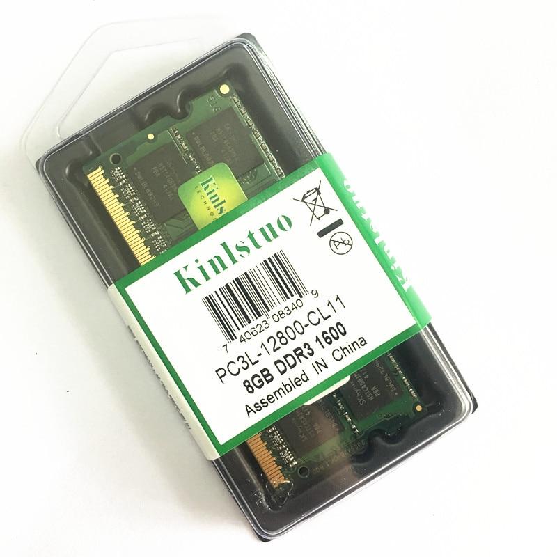Kinlstuo New Rams DDR3 / DDR3L 2GB/4GB/8GB PC3L-12800/10600 204pin So-Dimm Ram Laptop Memory