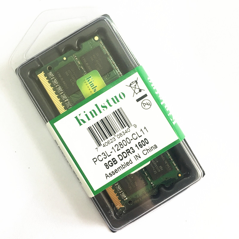 Kinlstuo New Rams <font><b>DDR3</b></font> / DDR3L 2GB/4GB/<font><b>8GB</b></font> PC3L-12800/10600 204pin So-Dimm Ram Laptop memory image