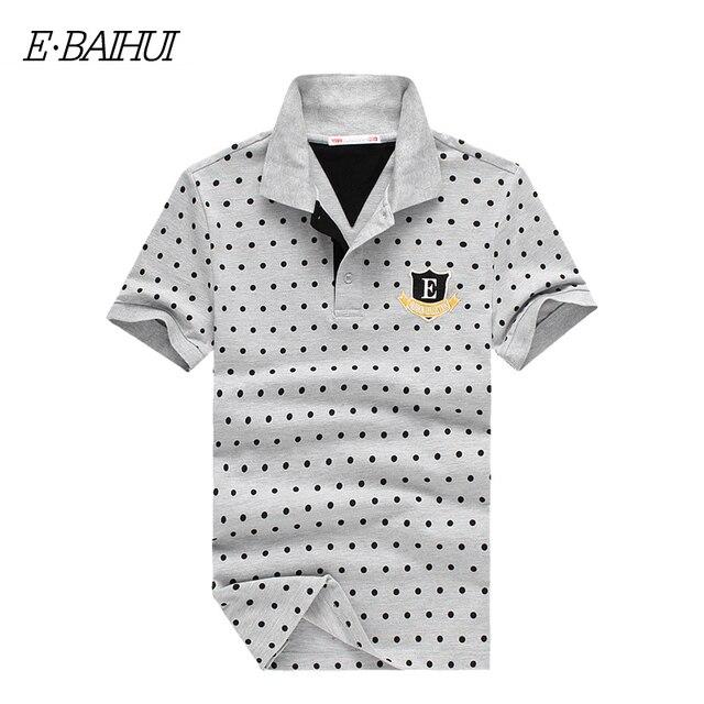 E-BAIHUI бренд летом стиль мужские топы тис Мужская Теннис Место Poloshirt Хлопок рубашки Поло Мужчины Camisa Поло Твердые Мужская одежда P010
