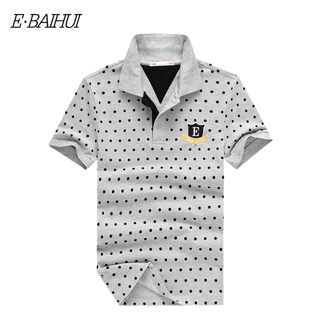 E-BAIHUI  brand summer style mens tops tees Mens Tenis Spot Poloshirt Cotton Polo shirts Men Camisa Polo Solid Men clothing P010
