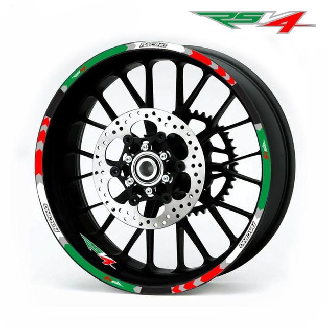 New high quality 12 Pcs Fit Motorcycle Wheel Sticker stripe Reflective  Rim For Aprilia RSV4 R/RR RSV4 RF RSV4 RFW MISANO RSV4