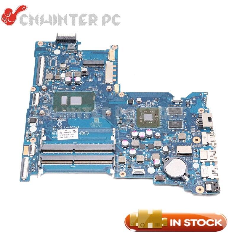 NOKOTION pour HP 15-AY 15-ay015ds ordinateur portable carte mère SR23Y i5-6200U CPU DDR4 2 GB VGA puce BDL50 LA-D704P 854936-601 854936-001