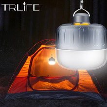 7200mAh USB Rechargeable LED Camping Light Emergency Lights Portable Lantern Powered Outdoor BBQ Hanging Light for Patio/Porch(China)