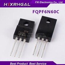 10PCS FQPF6N60C TO-220 6N60C 6N60 TO220 FQPF6N60 New original