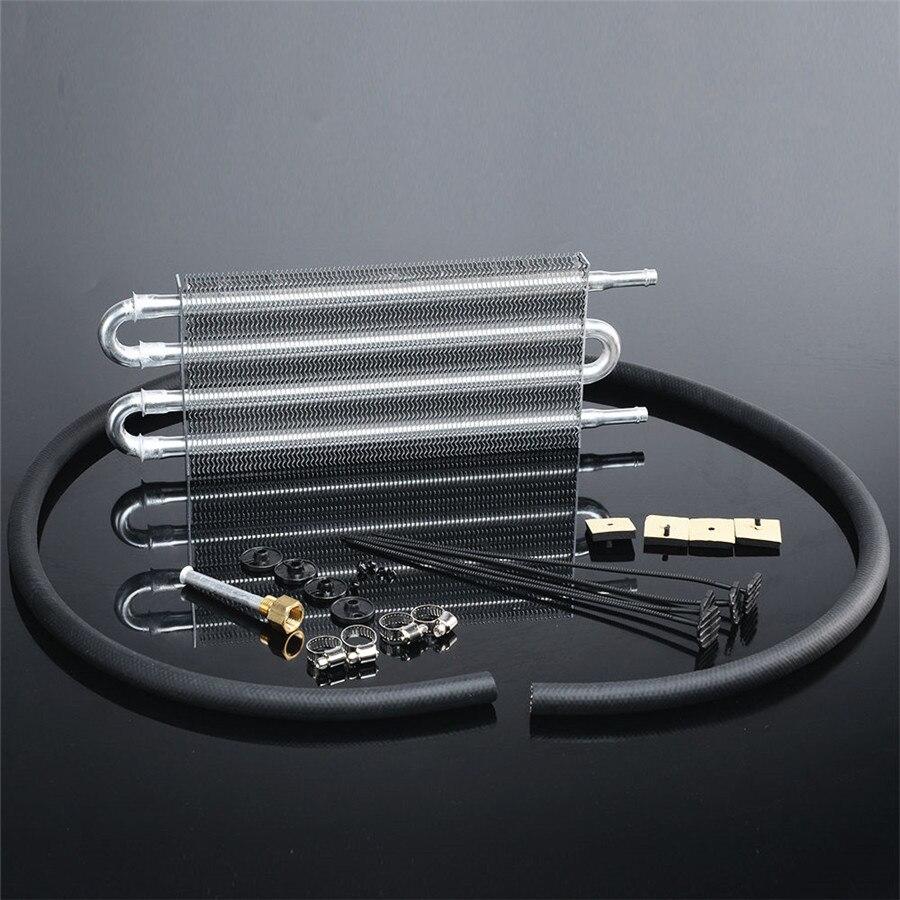 Refroidisseur d'huile de Transmission à distance à 4 rangées refroidisseur d'huile à plaques et ailettes en aluminium Kit de convertisseur de radiateur manuel automatique livraison gratuite