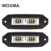 4x4 Car Accessorie 12V Motorcycle Work Light Offroad LED Bar 40W Auto Fog Light 6000K White Spot ATV 4WD Boat Driving Lamp WOXMA
