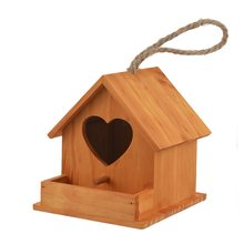 1PC Home Cute Pet Accessories Wood Parrot Bird Cages Bird House Nest Parrot Breeding Decorative Cages Hamster Nest(China)