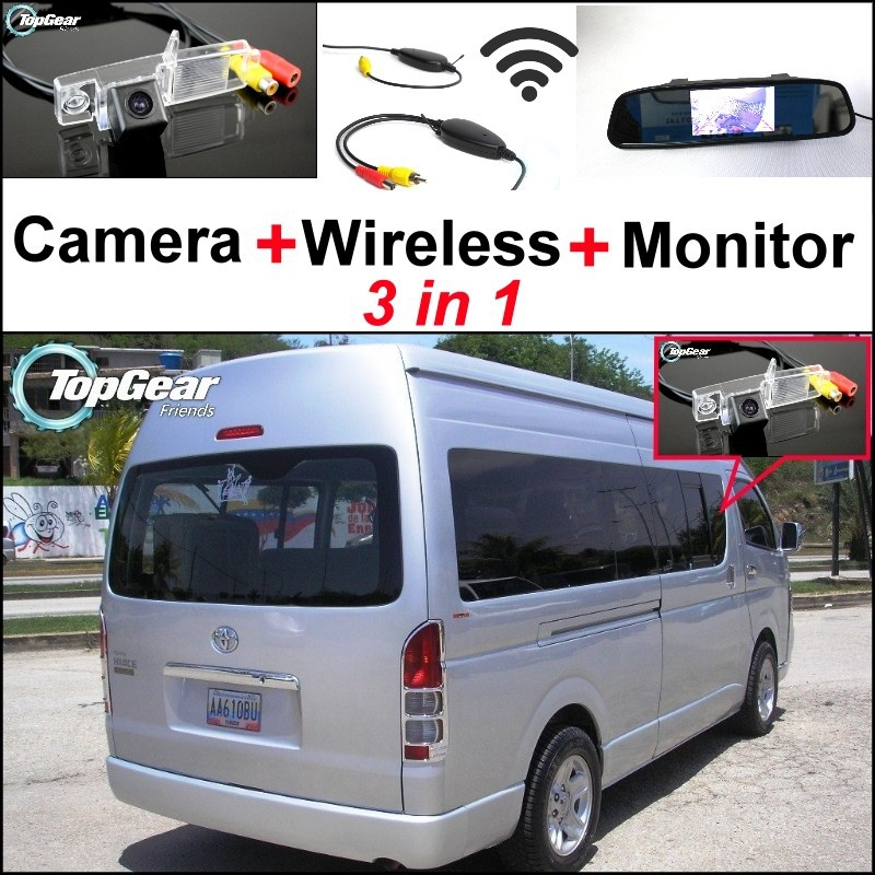 Camera + Wireless + Mirror Monitor For TOYOTA Hiace H200 Commuter RegiusAce Ses\'fikile Quantum Ventury Majesty Grandia MK5