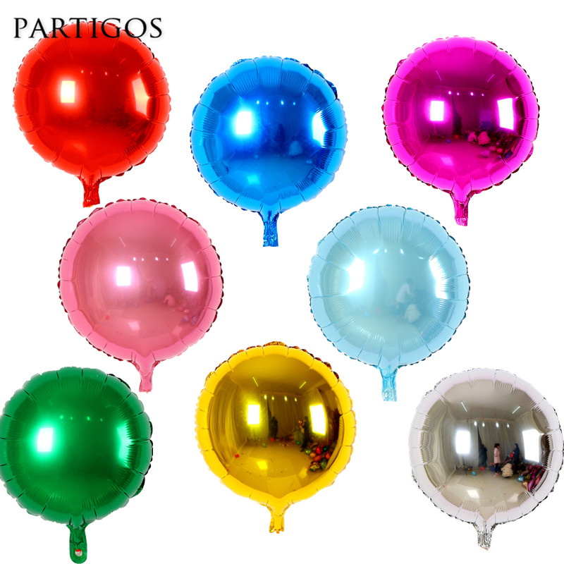 10pcs 18inch Pure Round Foil Helium Balloons Wedding Marriage Birthday party Decor Kids Gifts Toys Baby Shower Globos Supplies