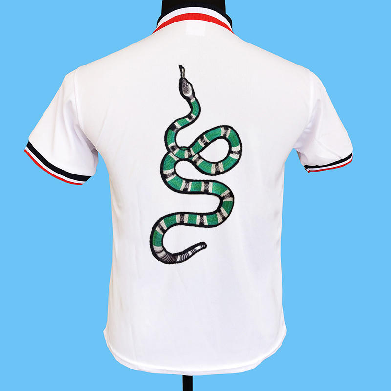 Seestern Brand Men Behind Embroidered Green Snake Polo Shirts