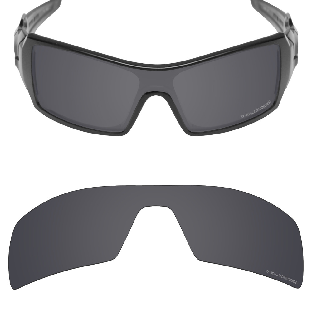 Mryok+ POLARIZED Resist SeaWater Replacement Lenses For Oakley Oil Rig Sunglasses Stealth Black