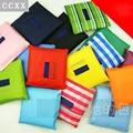 1 PC Hot Unisex Women Star Dots Striped Reusable Portable Shopping Bag Grocery Handbags Tote Environmental Folding Holders Bags