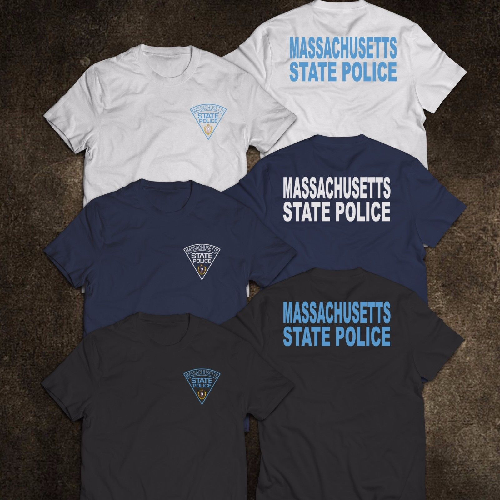 2019 Fashion NEW <font><b>Massachusetts</b></font> Police State United States Department Justice Mens Tee T-Shirt Tee shirt image