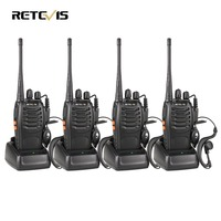 4 PCS Retevis H777 Radio Walkie Talkie 5W UHF400 470MHz 16CH Ham Radio Portable Two Way