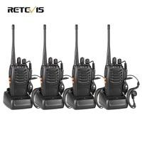 4 PCS Retevis H777 Radio Walkie Talkie 5W UHF400 470MHz 16CH Ham Radio Portable Two Way
