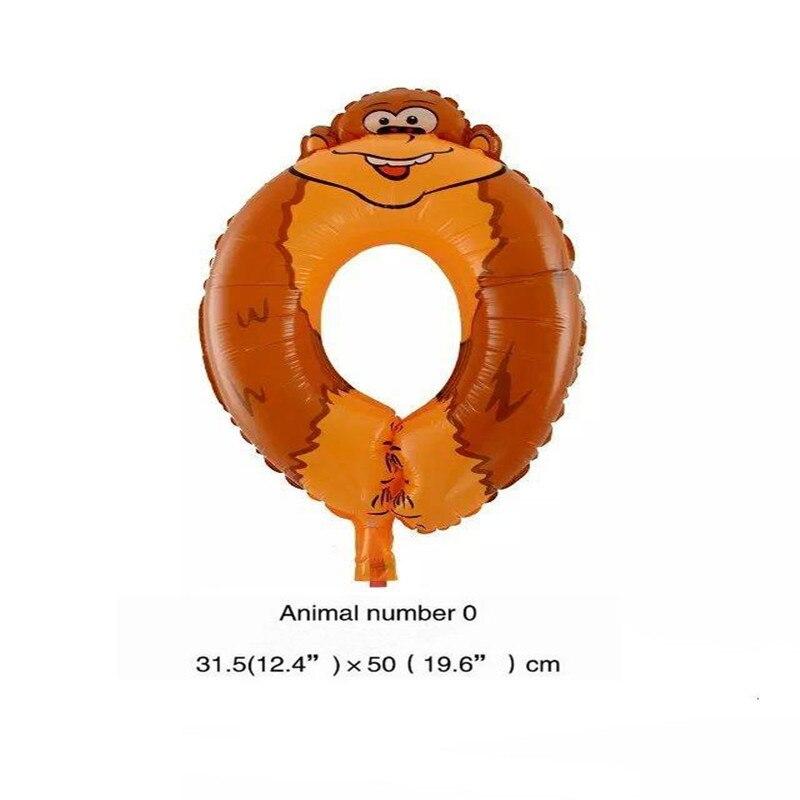 Cartoon Tier Anzahl Ballons Kinder Glücklich Geburtstagsparty Dekoration Ballon Ziffern Jahrestag Hochzeit Dekor Zubehör