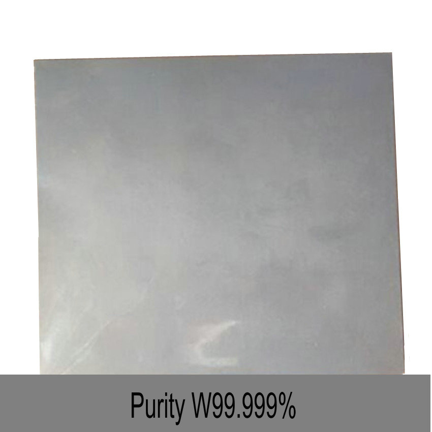 Tungsten Plate High Purity 99.999% for Research and Development Laboratory 0.05mm-100mm Use Metal Elementary Substance W Sheet