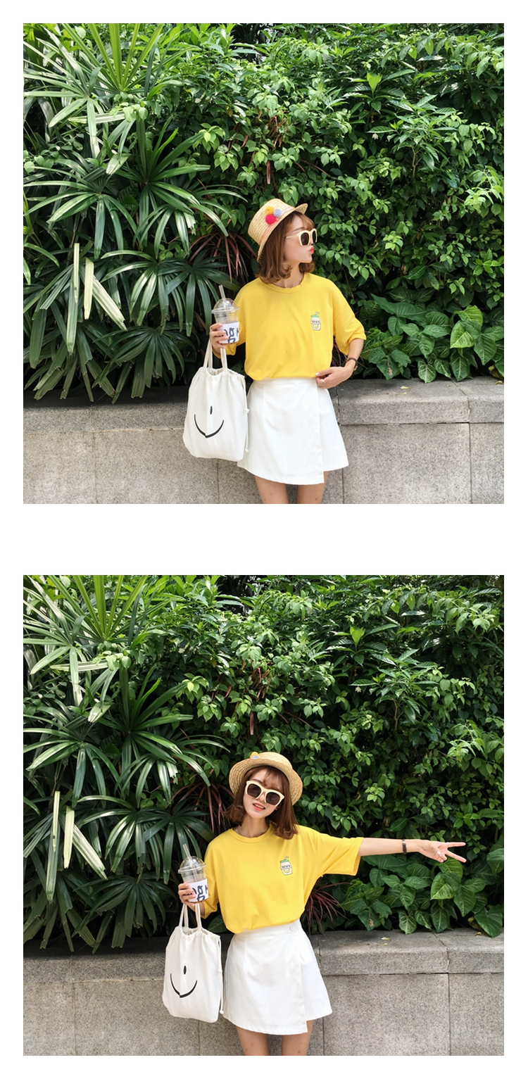 HTB1ecEZKFXXXXXVXXXXq6xXFXXXR - Summer New Cute Banana Milk Embroidered T-shirts PTC 192