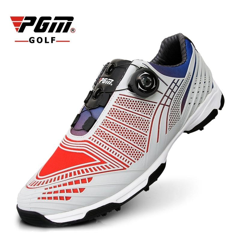 Sapatos de Golfe dos Homens à Prova Tênis de Golfe Sapatos de Golfe Dwaterproof Água Botão Automático Bloqueio 3d Impressão Esportes Atlético Aa51039 2020 Pgm