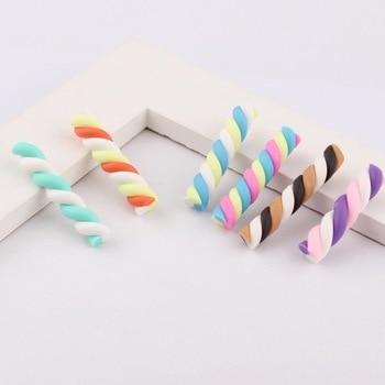 20pcs Stick sweet candy polymer clay Flatback Cabochon Miniature Food
