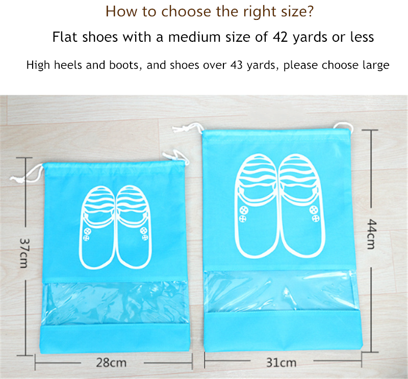 2 Sizes Waterproof Shoes Bags Pouch Women Travel Bag Portable Drawstring Bag Packing Organizer for Men journay Organizador bag