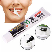 Black Toothpaste Teeth Whitening Herbal Bamboo Charcoal Black Toothpaste Fresh Smell Teeth Whitening Dental Crme with Charcoal