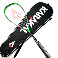 רשמי קרקל הכשרה מקצועית משחק משחק 130g SLC סיבי פחמן סקווש מחבט עבור שחקנים לומדים raquete דה סקווש