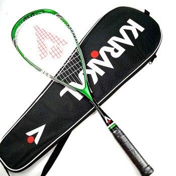 רשמי קרקל סקווש מחבט עם סקווש מחרוזת תיק מקצועי פחמן Padel משחק ספורט משחק אימון raquete דה סקווש