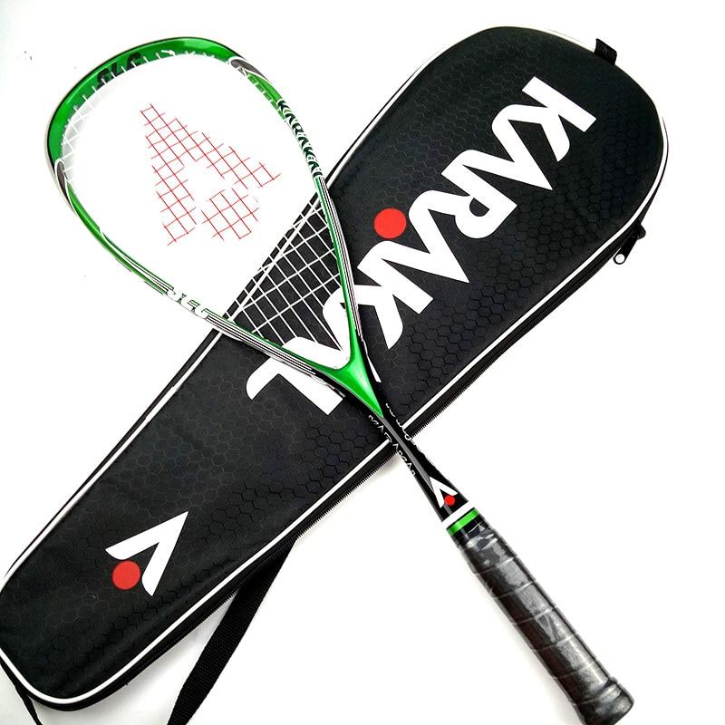Oficial karakal squash raquete com squash string saco profissional de carbono padel jogo treinamento esportes raquete squash