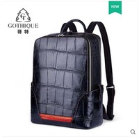 gete 2019 Crocodile skin backpack for men large capacity travel backpack handmade for 30 years bay crocodile belly backpack men