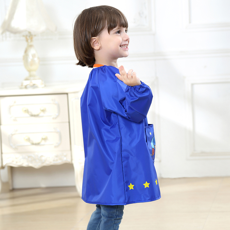 Yuding Kids Apron Children Girls Boys Waterproof Art Smock Apron New Cartoon Clothing Baby Painting Aprons Kids Bibs As Gift in Aprons from Home Garden