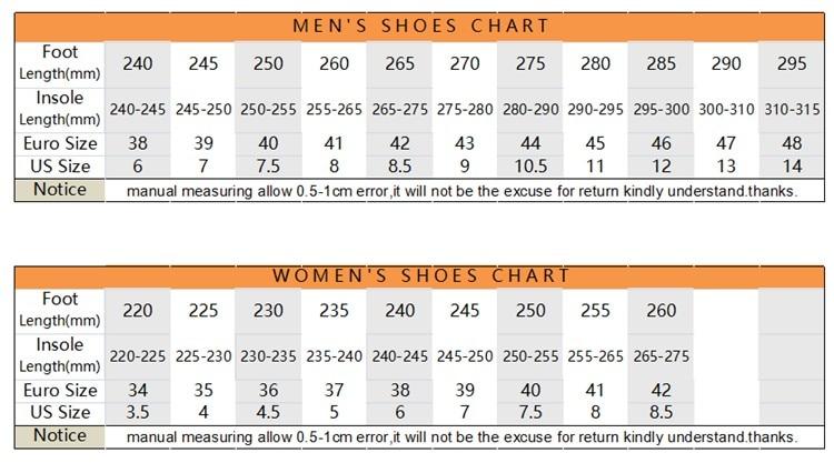 275 size chart